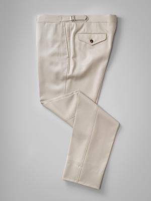 Light beige pair of regular fit cavalry twill wool trousers – Rota S