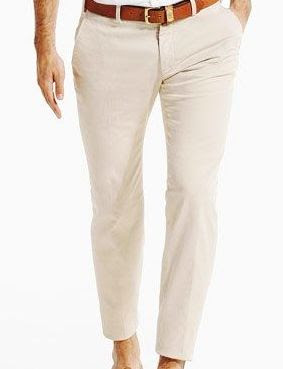 white shirt and beige trouser combination - Men's clothing colour .