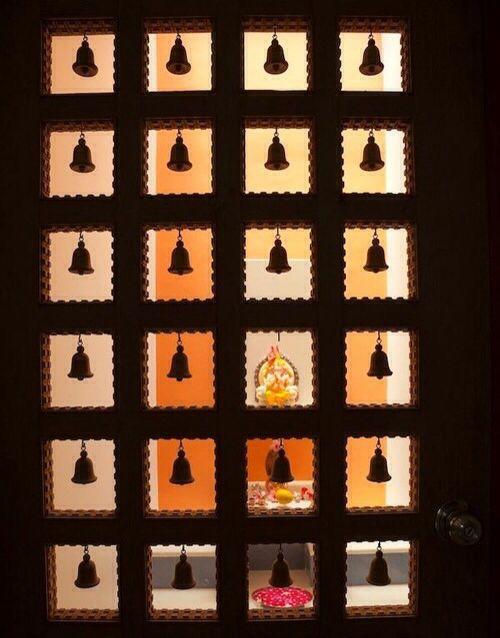 Door Bells (With images) | Pooja room door desi