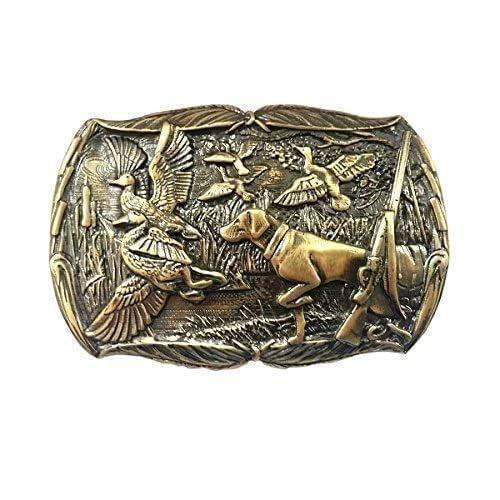 Amazon.com: Belt Buckle Duck Hunting, Handmade hunter trophy solid .