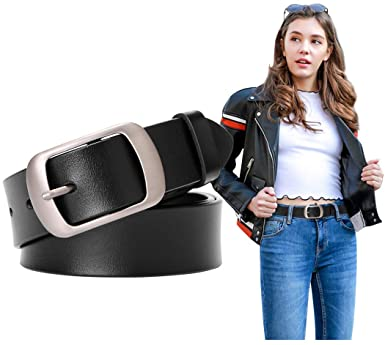 Fashion Womens Leather Belts SUOSDEY with Pin Buckle Waist Belt .