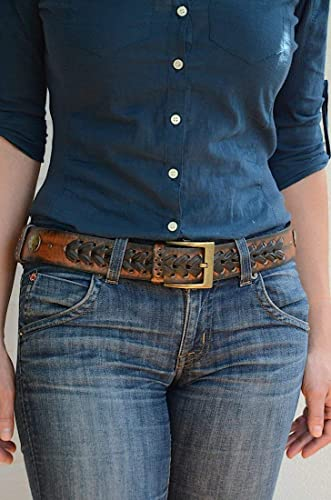 Amazon.com: Womens Leather Belt for Jeans: Handma