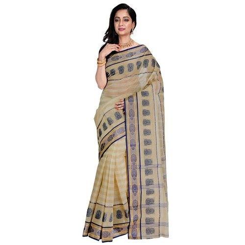 Printed Bengali Cotton Saree, Length: 6.3 m (with blouse piece .