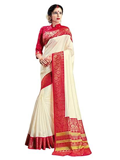 Buy AKHILAM Women's Patola Silk Bengali Saree With Blouse Piece .