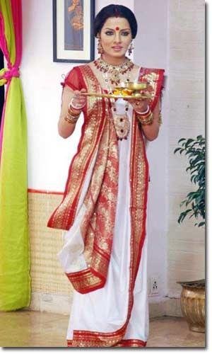 Bengali | Saree wearing styles, Bengali saree, Sar