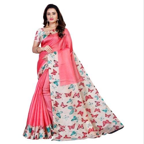 Party Wear bhagalpuri sarees Bhagalpuri Silk Saree, Size: 5.5 .