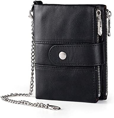 Boshiho Real Leather RFID Blocking Bifold Wallets for Men Double .