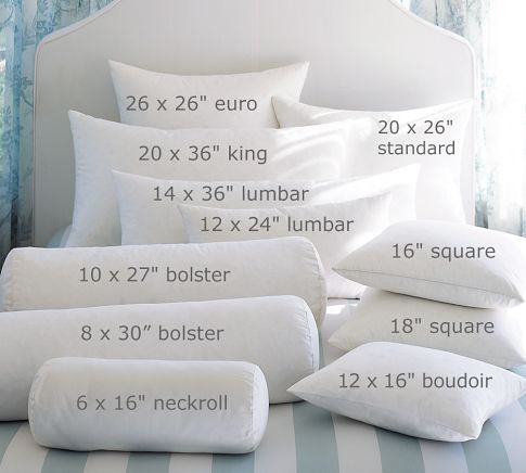 Down Feather Pillow Insert | Pillows, Bedding basics, Bed pillo