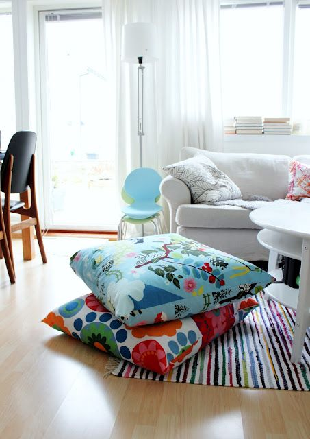 high house then radio | Giant floor pillows, Floor pillows diy .