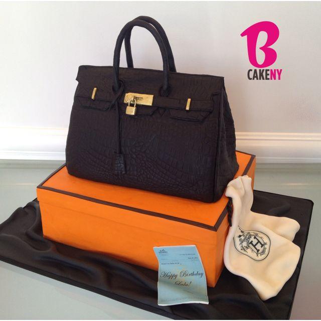 Hermes Croc Birkin Bag Cake | Handbag cakes, Bag cake, Fashion cak