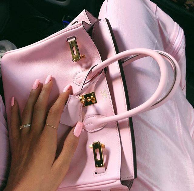 Kylie Jenner Hermes Birkin mini bag pink (With images) | Pink bag .