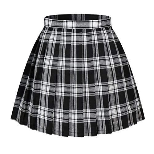 Dress with Plaid Skirt: Amazon.c