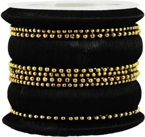 Black Big Silk Thread Bangles at Rs 600/set | Silk Thread Bangle .