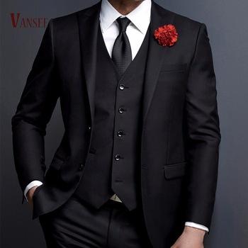 Gentlemen British Western Italy Style 3 Pieces Suits Jacket Men .
