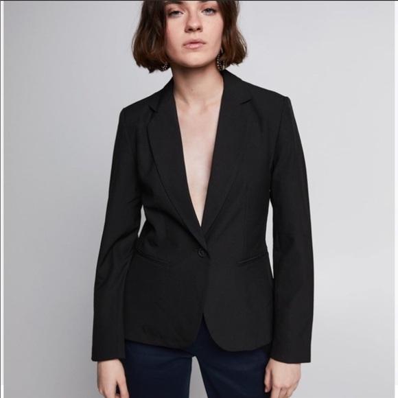 Zara Jackets & Coats | Womans Deep V Black Blazer | Poshma
