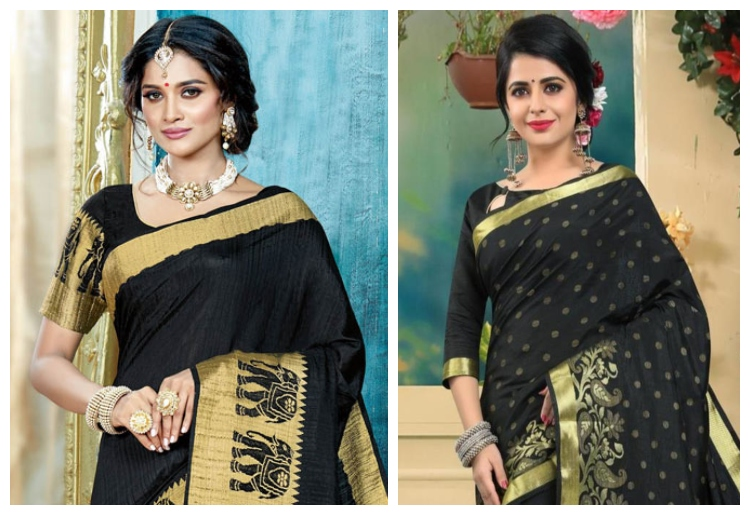 8 Stylish Blouse Color Combinations for Silk Sar