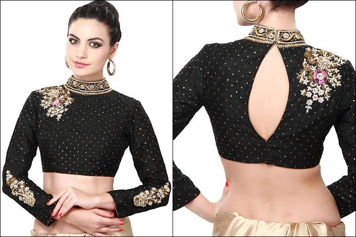 Blouse Back Neck Designs: Top 54 Trendy Designs (With images .