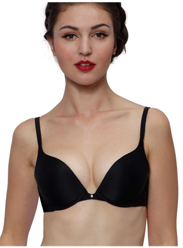 Daily Push-up Bra | Demi Bra | Rhinestone Micro Black Bras| PPZ.C
