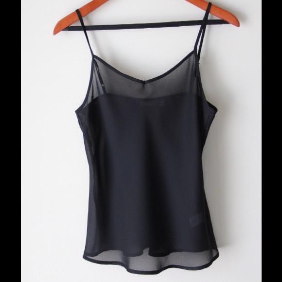 Apt. 9 Tops | Sheer Black Camisole | Poshma