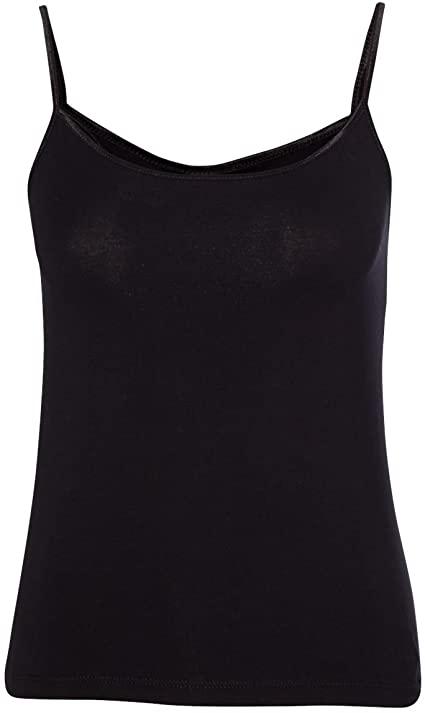 Bella Cotton Spandex Ladies Camisole. 600 - Black L at Amazon .