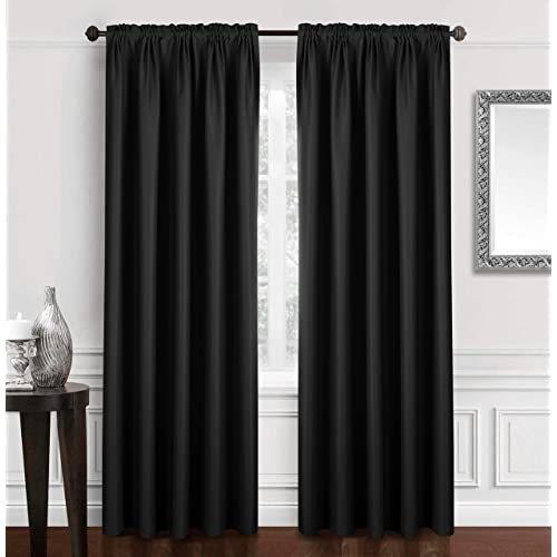 Black Curtains for Bedroom: Amazon.c