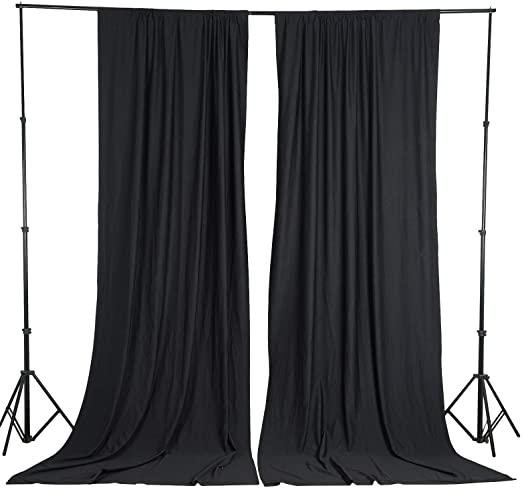 Amazon.com: BalsaCircle 10 ft x 10 ft Black Polyester Photography .