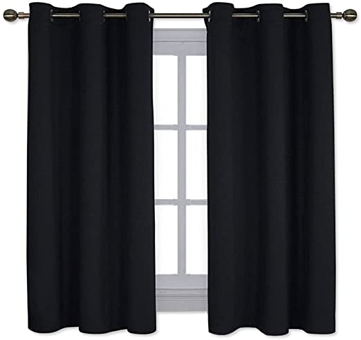 Amazon.com: NICETOWN Pitch Black Solid Thermal Insulated Grommet .