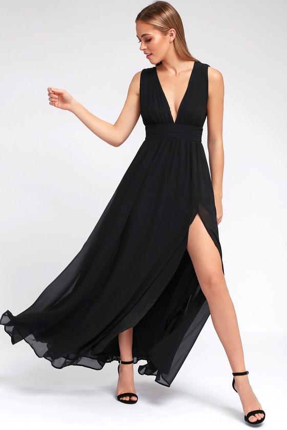 Black Gown - Maxi Dress - Sleeveless Maxi Dress - $84.