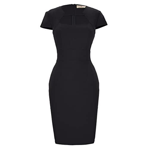 Black Cap Sleeve Dress: Amazon.c
