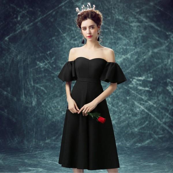 Buy Short Sleeve Strapless Cocktail Party Ware Dresses Elegant .