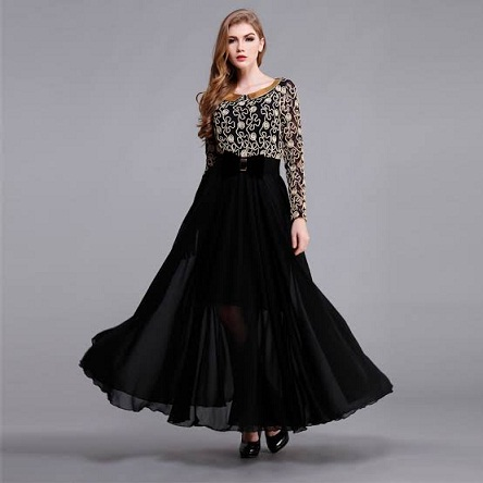 15 Latest and Attractive Black Frocks for Women in Fashion .