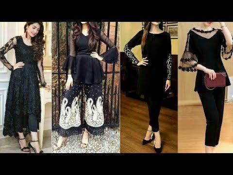 New stylish black dresses for girls new design black dresses .
