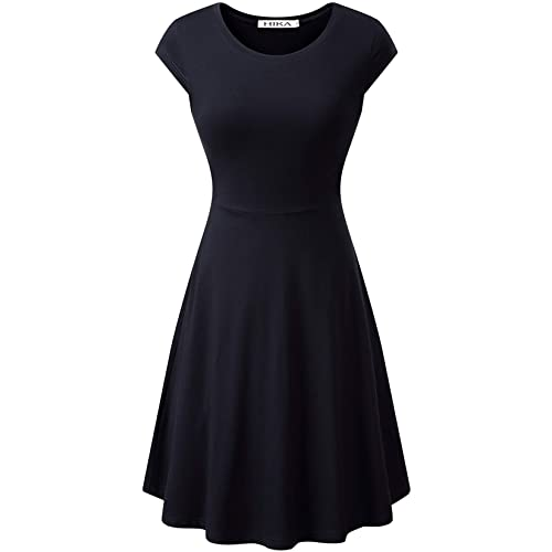 A Line Black Dress: Amazon.c
