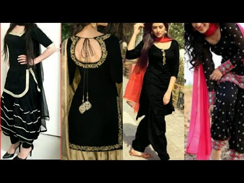 Most beautiful black suit & salwar designs/New black colour suit .