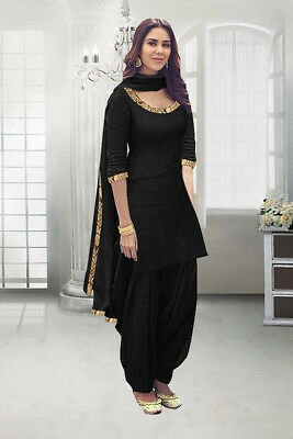 Punjabi Black Patiala Suits Ethnic Salwar Kameez Designer .
