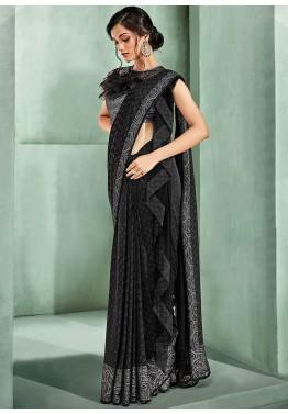 Black Saree - Designer Indian Black Sarees Collection Online USA,