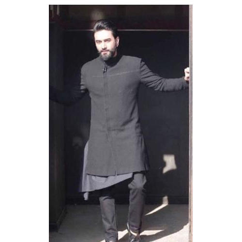 Black 42 And 44 Designer Sherwani, Sheetalps Couture Private .