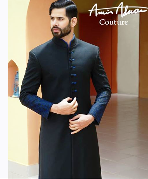 Black Sherwani Designs