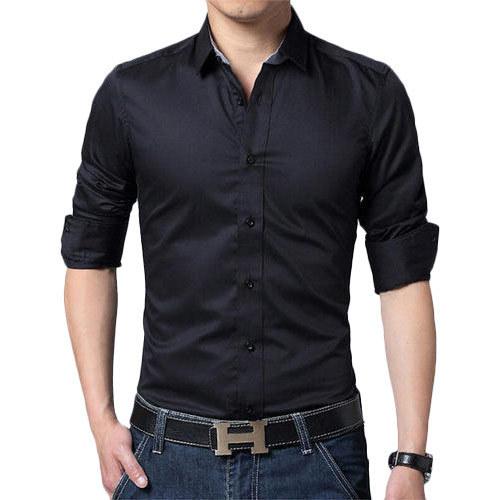 Mens Black Shirt, Size: Large, Rs 600 /piece S S Lahenga & Sarees .