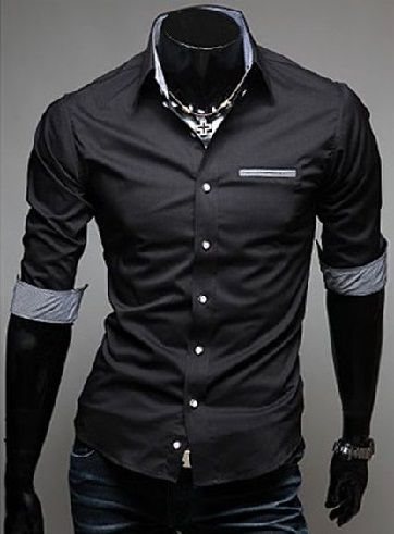 22 Stylish Models of Black Shirts For Men In New Fashion (With .