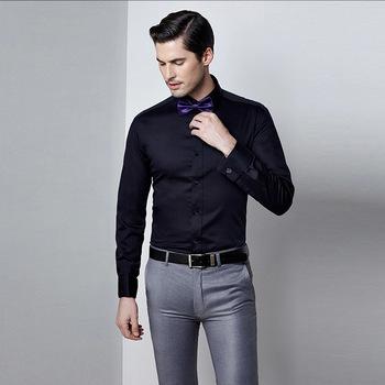 Latest Style Cotton Long Sleeve Man Black Shirt, View Man Black .