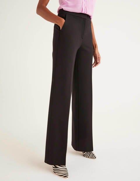 Hampshire Ponte Pants - Black | Boden