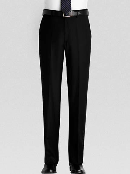 Men's black slack pants. | Mens Pants - Dress Pants for Men .