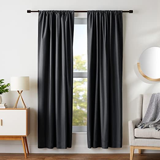 Amazon.com: AmazonBasics Room Darkening Blackout Window Panel .