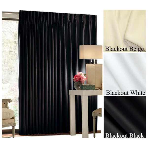 "72"" Tall by 144"" Wide Quick Ship Commercial Blackout Curtain ."