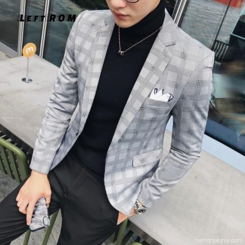 Pattern Check Blazer Men Slim Fit Plaid Blazer Jacket Men With .