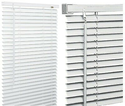 PVC 25 mm SLATS VENETIAN WINDOW BLIND CURTAINS BLINDS WHITE | eB