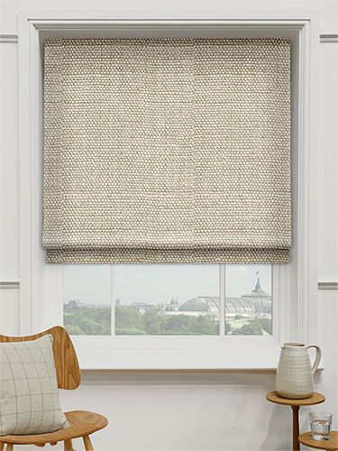 Linen Hopsack Roman Blind | Curtains with blinds, House blinds .