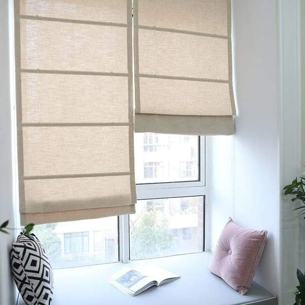 Roman Shades / Window Blind Fabric Curtain Drape Blackout Curtains .
