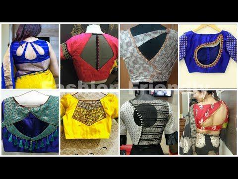 Blouse designs 2019 | Blouse back neck designs | Latest blouse .